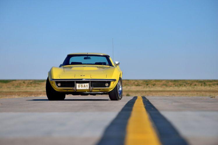 1969 Chevrolet Corvette (c3) Stingray L71 Sport Coupe cars yellow wallpaper