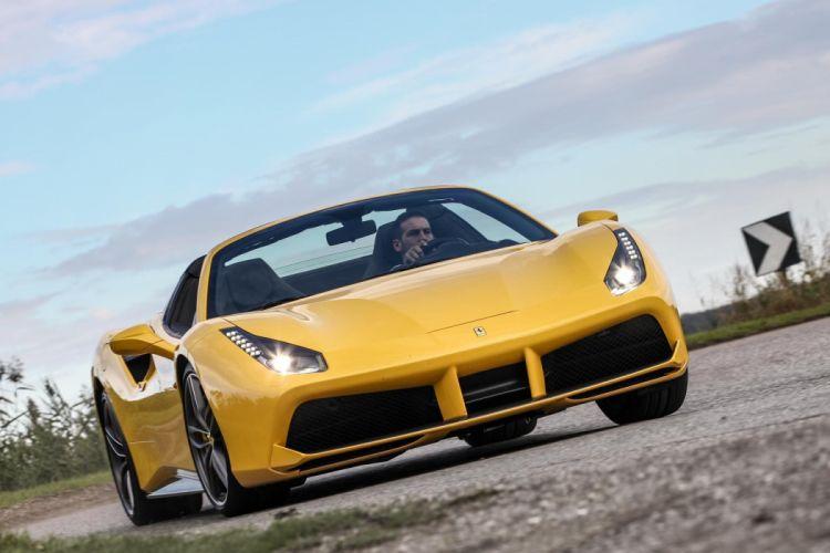 2015 488 cars Ferrari spider yellow wallpaper