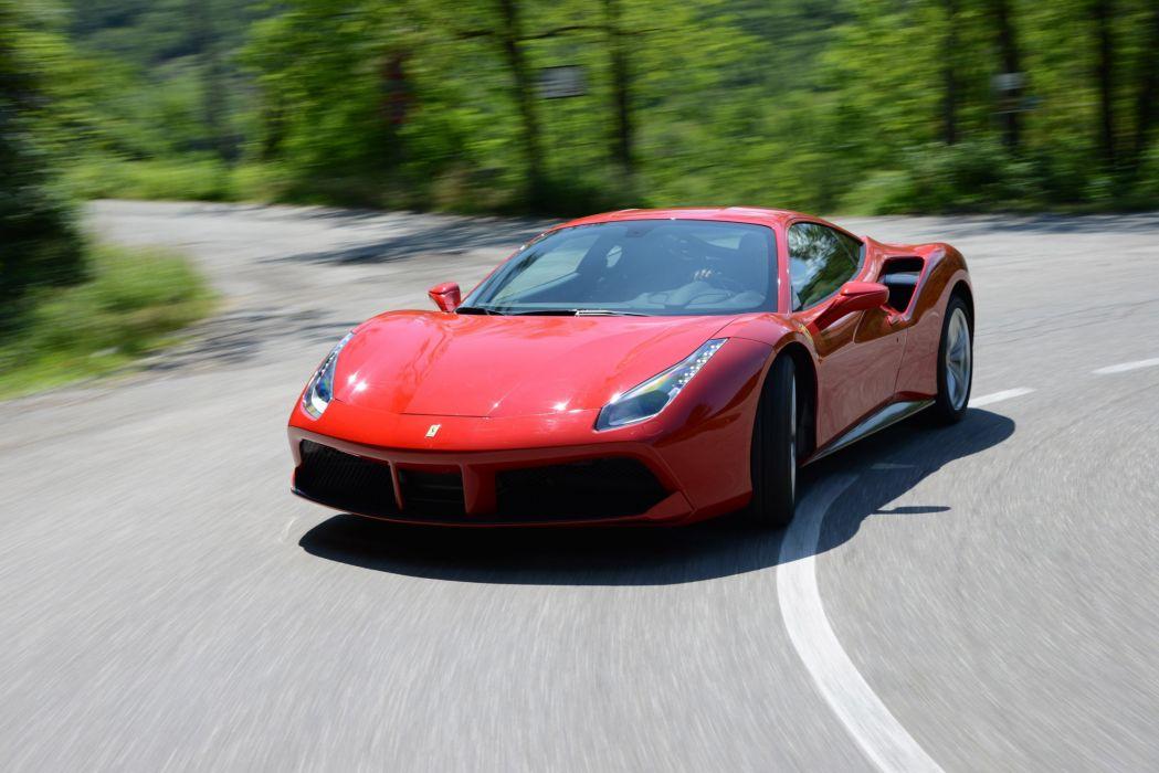2015 488 cars Ferrari gtb red wallpaper