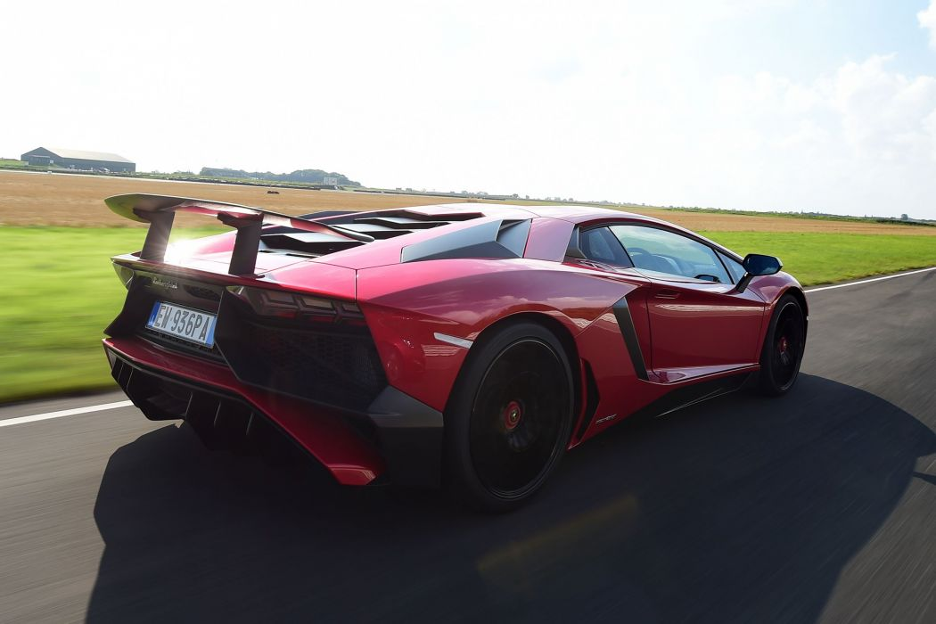 Lamborghini Aventador Super Veloce cars supercars red wallpaper