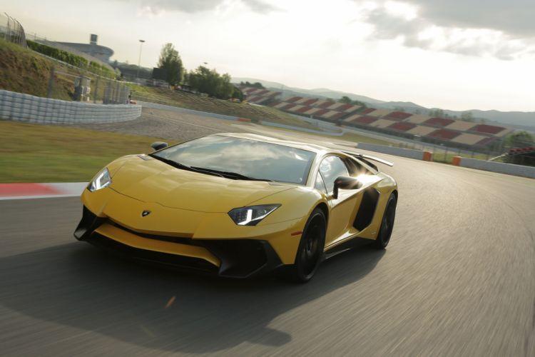Lamborghini Aventador Super Veloce cars supercars yellow wallpaper