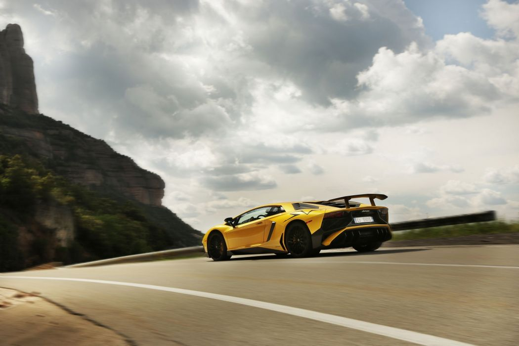 Lamborghini Aventador Super Veloce cars supercars yellow wallpaper