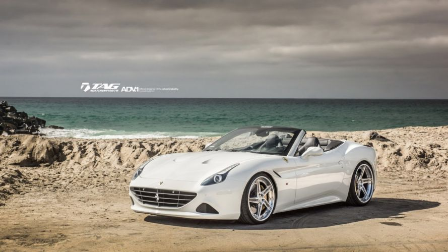 Ferrari California-T adv1 wheels cars white wallpaper