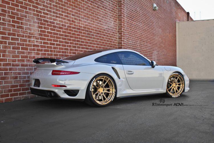 adv1 wheels cars coupe Porsche 991 Turbo S white wallpaper