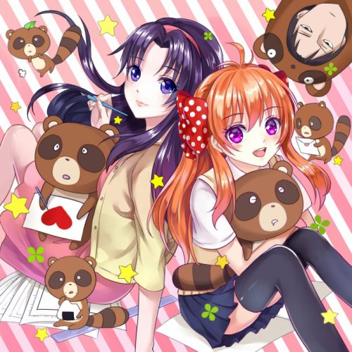 chiyo blush gekkan shoujo nozaki-kun sakura nozaki long hair anime series cute girl beauty school uniform wallpaper