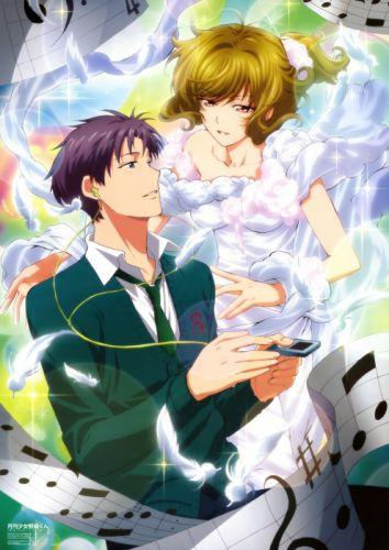 characters seo yuzuki wakamatsu hirotaka gekkan shoujo nozaki-kun anime series couple love cute girl guy beauty dress wallpaper