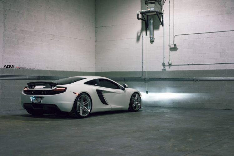 ADV1 cars Coupe wheels white McLaren MP4-12C wallpaper