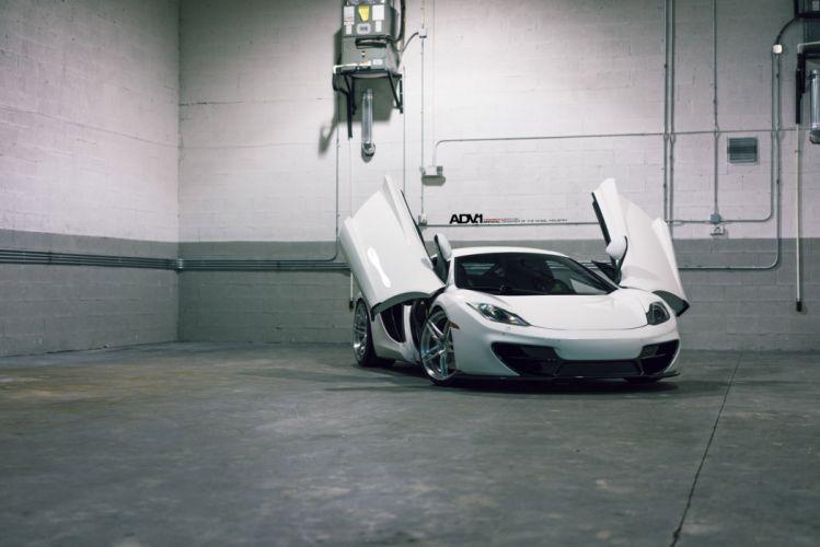 ADV1 cars Coupe wheels white McLaren MP4-12C wallpaper
