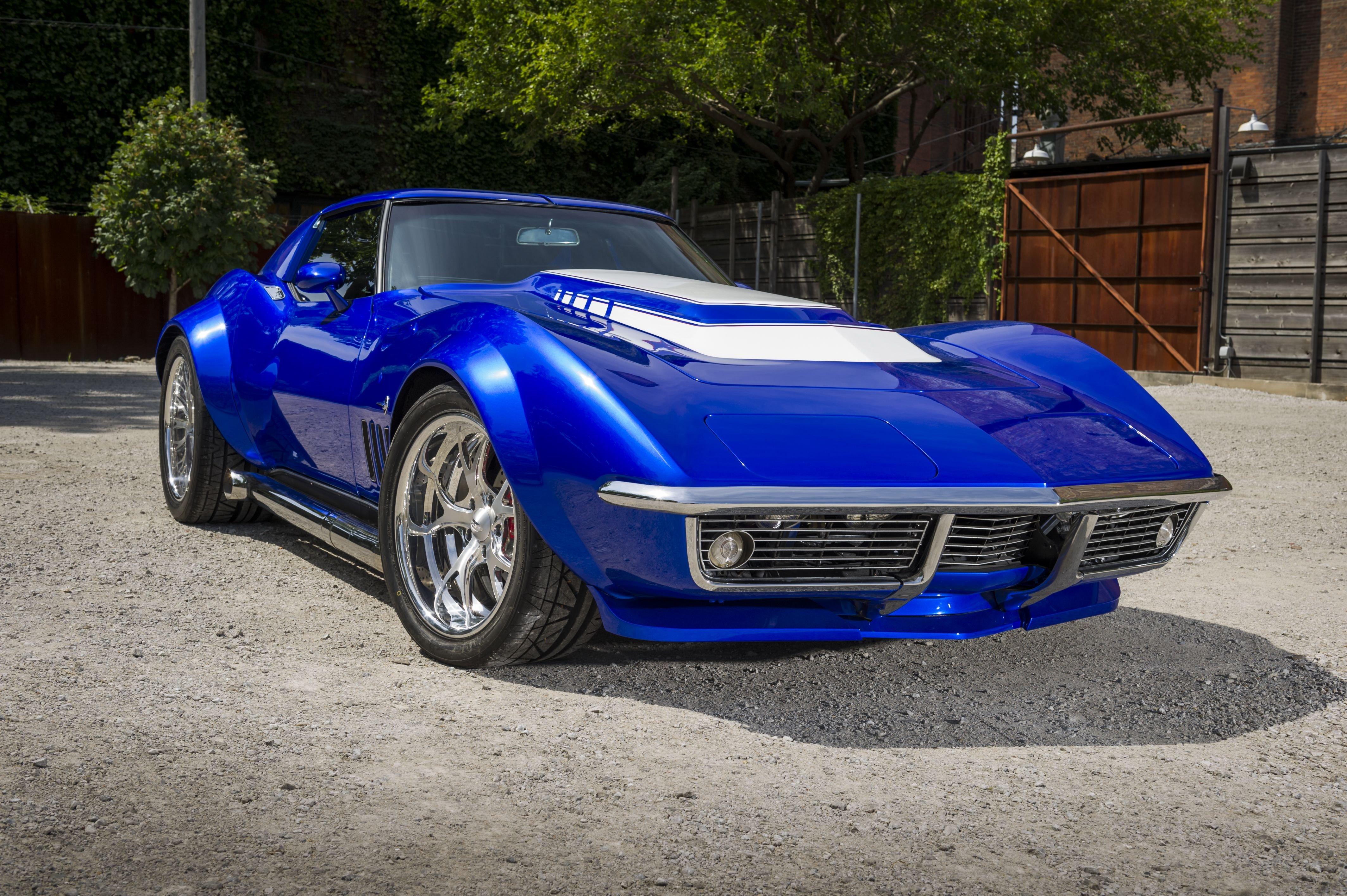 1969 chevrolet corvette stingray blue c3 cars wallpaper 4256x2832 841975 wallpaperup - Corvette Stingray 1969 Wallpaper