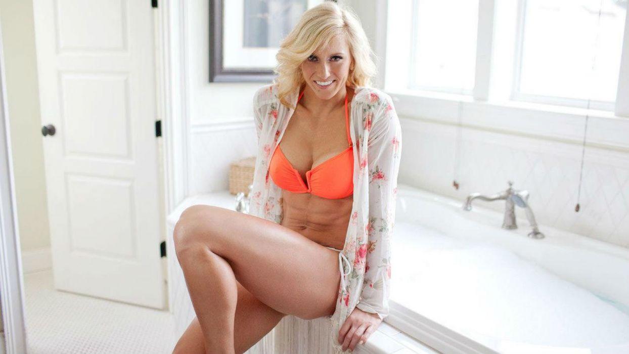 WWE DIVAS wrestling fighting warrior action sexy babe wallpaper