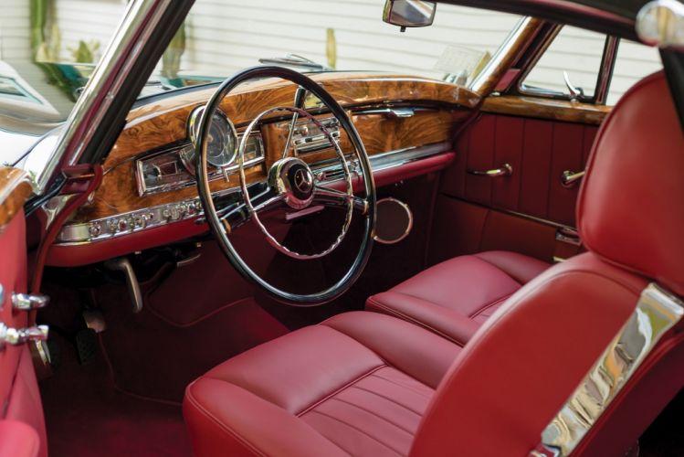 Mercedes 300 Sc Cabriolet A (W188) cars black classic 1956 wallpaper
