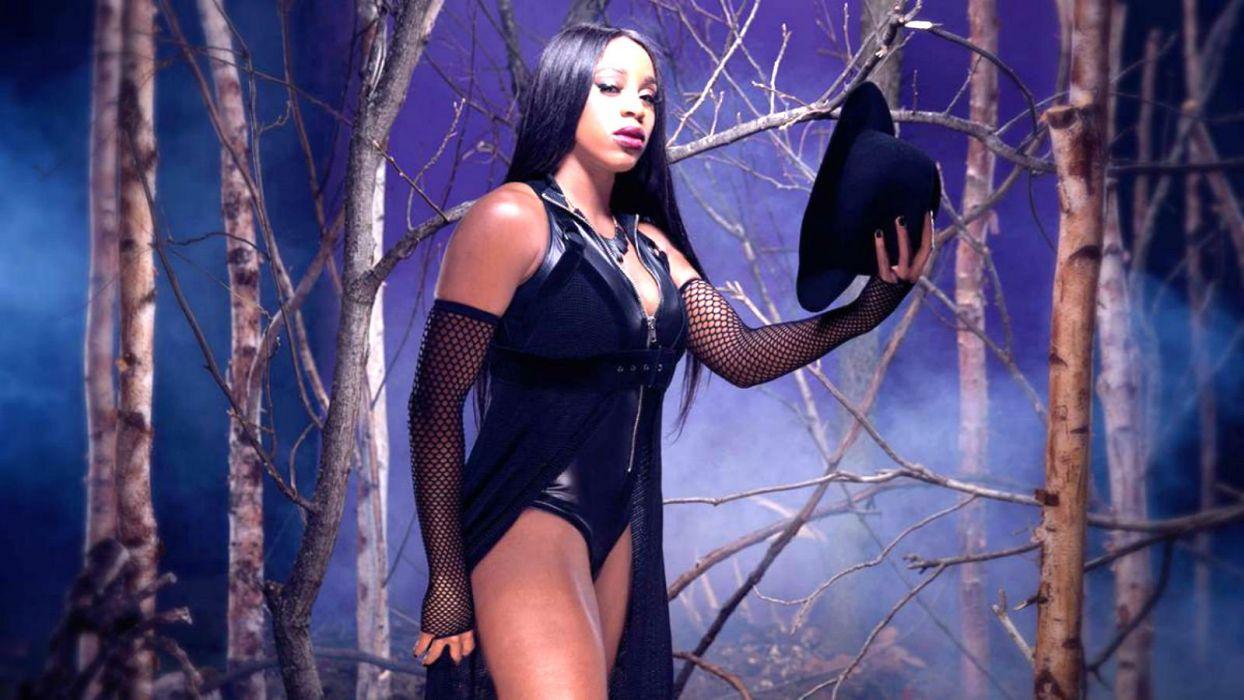 WWE DIVAS wrestling fighting warrior action sexy babe halloween dark wallpaper