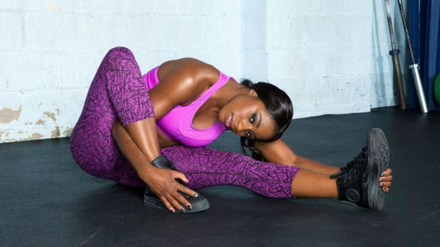 WWE DIVAS wrestling fighting warrior action sexy babe fitness wallpaper