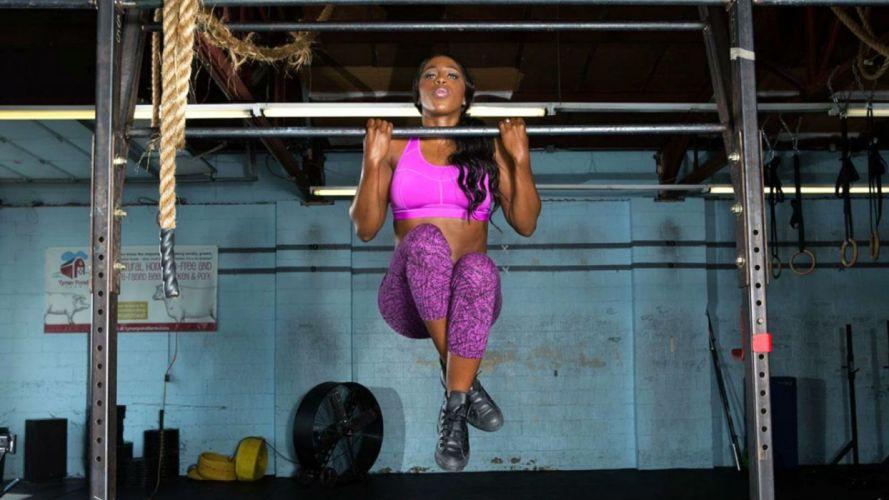 WWE DIVAS wrestling fighting warrior action sexy babe fitness wallpaper