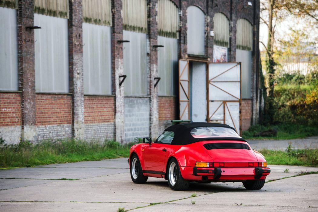 Porsche Carrera Speedster Turbolook cars red (911) 1989 wallpaper