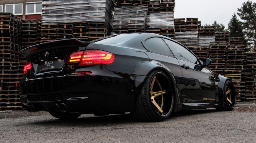 Liberty Walk BMW M3 e92 coupe cars black Tuning wallpaper