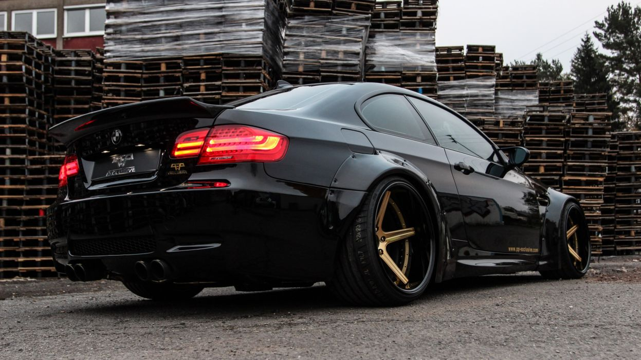 liberty walk bmw m3 e92 coupe cars black tuning wallpaper. Black Bedroom Furniture Sets. Home Design Ideas
