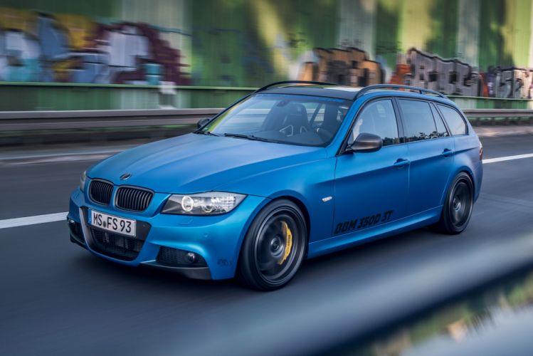 2015 BBM MOTORSPORT BMW 350D 3 T wagon blue Tuning wallpaper