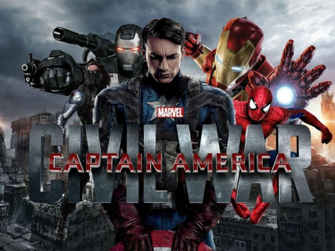 CAPTAIN AMERICA 3 Civil War marvel superhero action fighting 1cacw warrior sci-fi avengers poster wallpaper