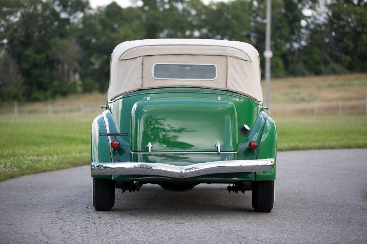 1935 Auburn 851 Supercharged Dual Ratio Phaeton Sedan luxury vintage retro wallpaper