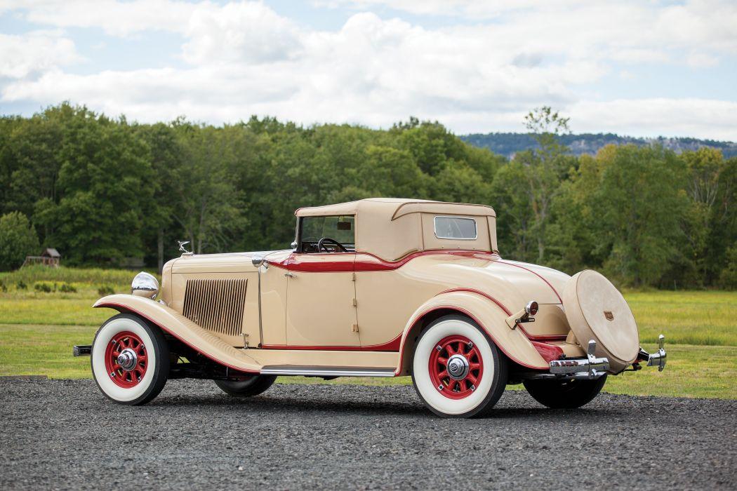1932 Auburn 8-100A Custom Dual Ratio Cabriolet luxury vintage wallpaper