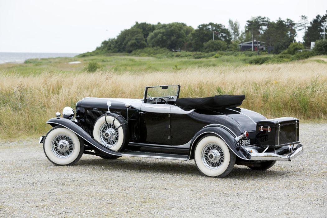 1933 Auburn 12 165 Salon Dual Ratio Convertible retro vintage luxury wallpaper