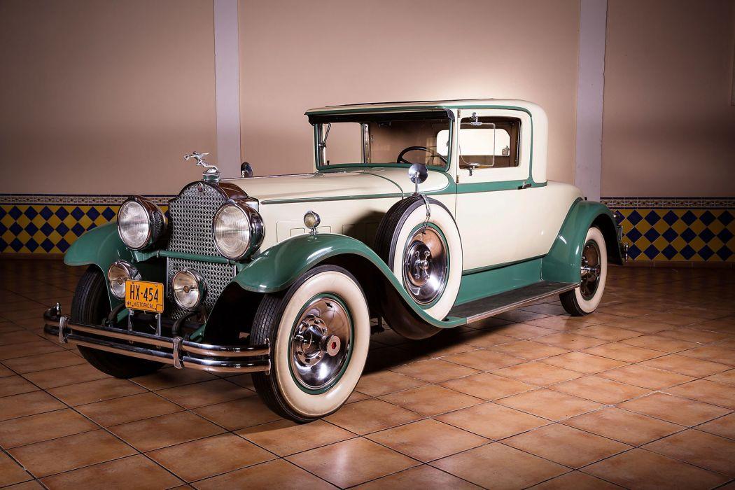 1930 Packard Custom Eight Coupe 740-418 luxury retro vintage wallpaper