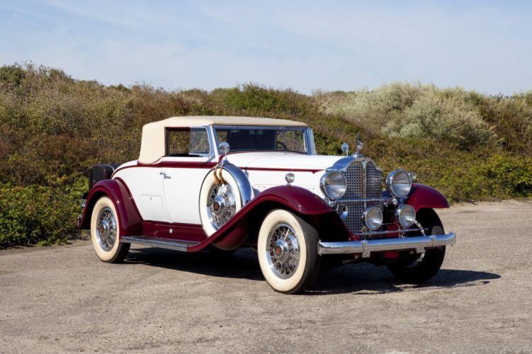 1932 Packard Standard Eight Coupe Roadster 902-509 retro vintage luxury wallpaper