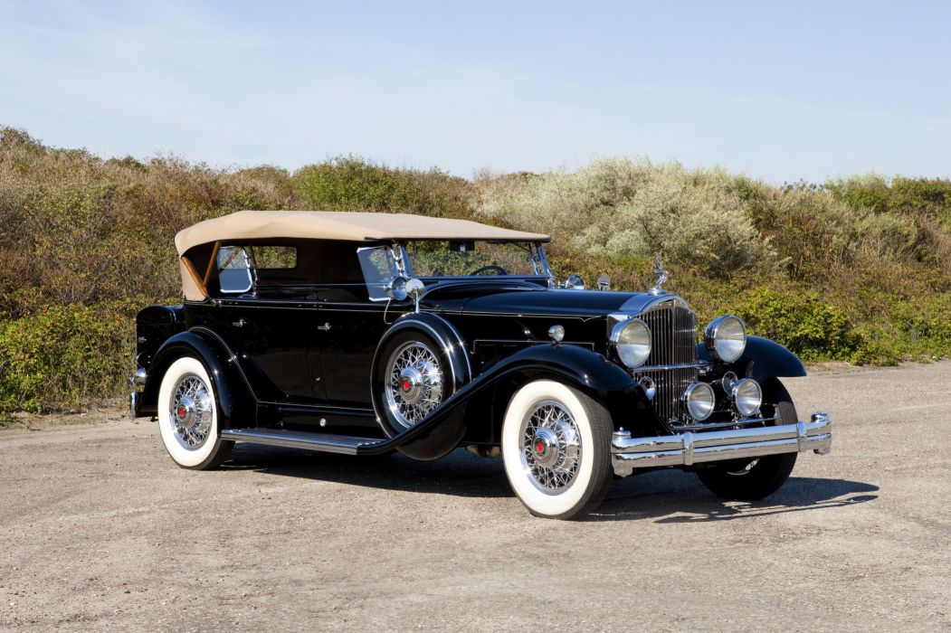 1932 Packard Standard Eight Sport Phaeton 902-521 luxury retro vintage wallpaper