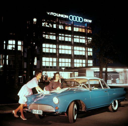 1958 Auto Union 1000 S-P Coupe retro wallpaper