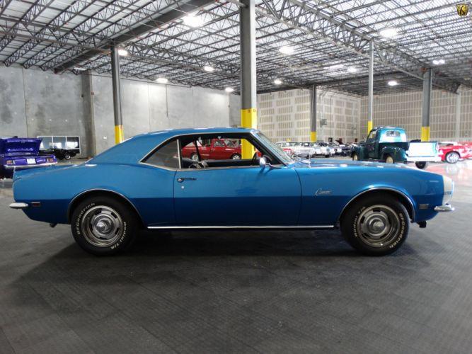 1968 Chevrolet Camaro 327 blue cars wallpaper