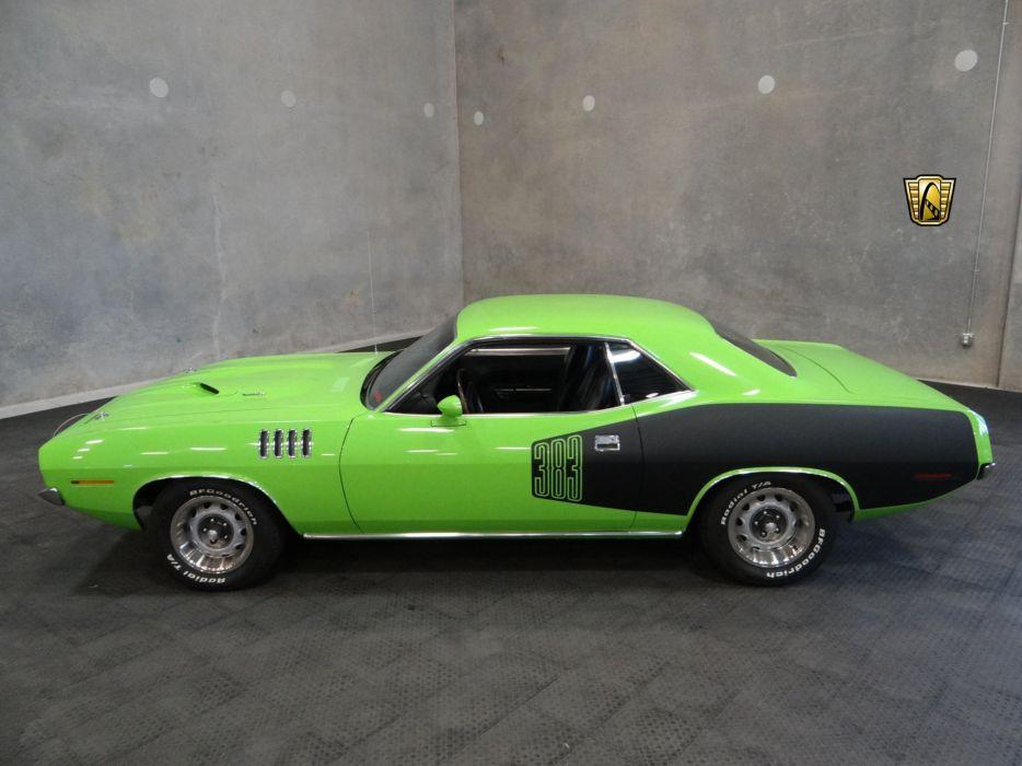 1971 Plymouth Cuda 383 cars green wallpaper