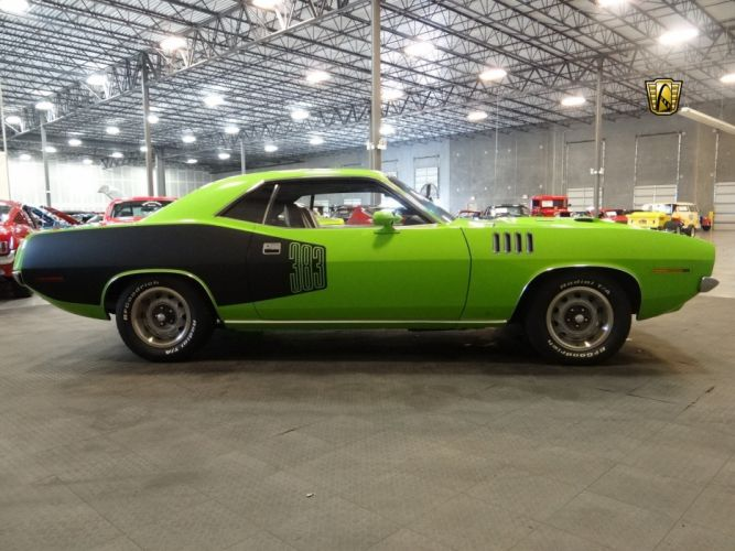 1971 Plymouth Cuda 383 cars green wallpaper
