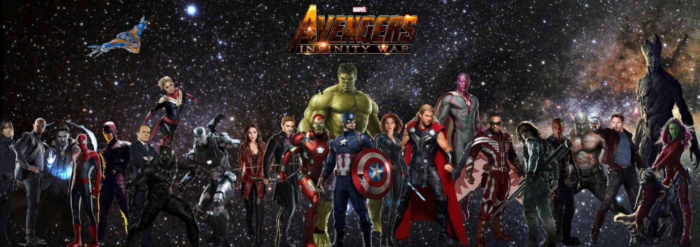 AVENGERS INFINITY WAR marvel superhero action fighting warrior sci-fi 1aiw poster wallpaper