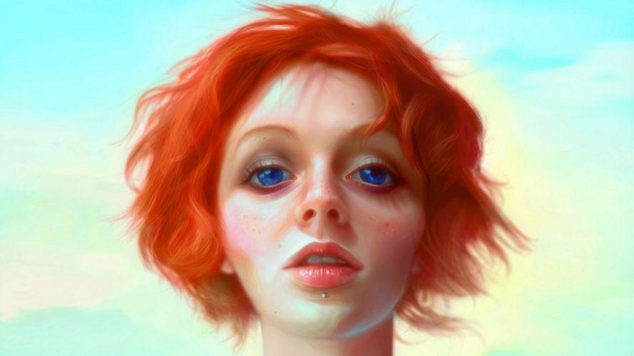 women woman female girl girls mood fantasy art artwork artistic wallpaper