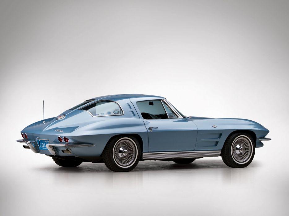 1963 Chevrolet Corvette Sting Ray L75 327 300HP Sport Coupe stingray classic muscle supercar wallpaper