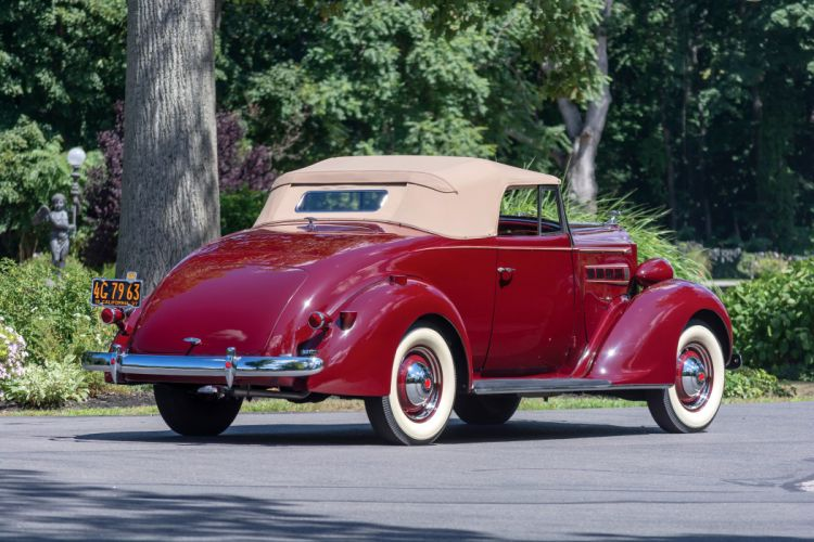 1937 Packard Six Convertible Coupe 115-C1089 luxury vintage retro wallpaper