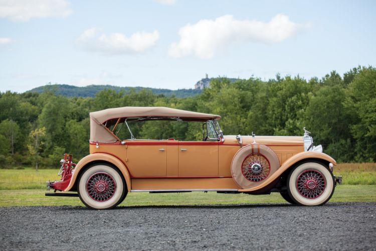 1929 Packard Deluxe Eight Sport Phaeton Dietrich 645-1540 retro vintage luxury wallpaper