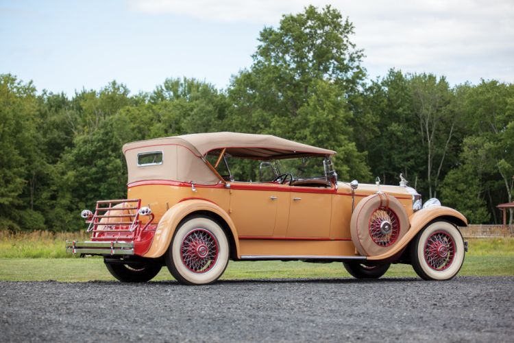 1929 Packard Deluxe Eight Sport Phaeton Dietrich 645-1540 retro vintage luxury wallpaper