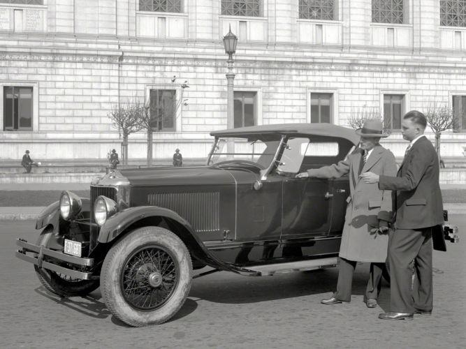 1927 Diana Light Straight Eight Roadster retro vintage wallpaper