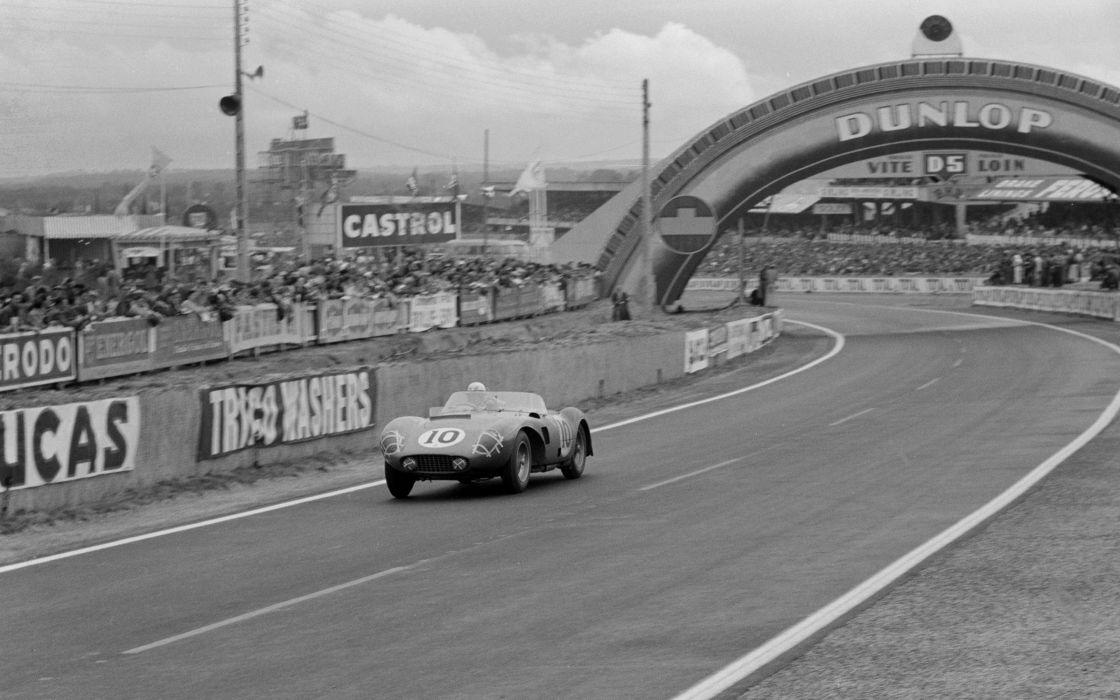 1956 Ferrari 625 L-M Touring race racing retro rally lemans le-mans wallpaper