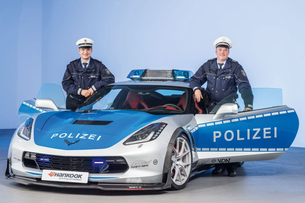2015 Chevrolet Corvette Stingray Coupe Polizei Concept C-7 muscle police emergency supercar wallpaper