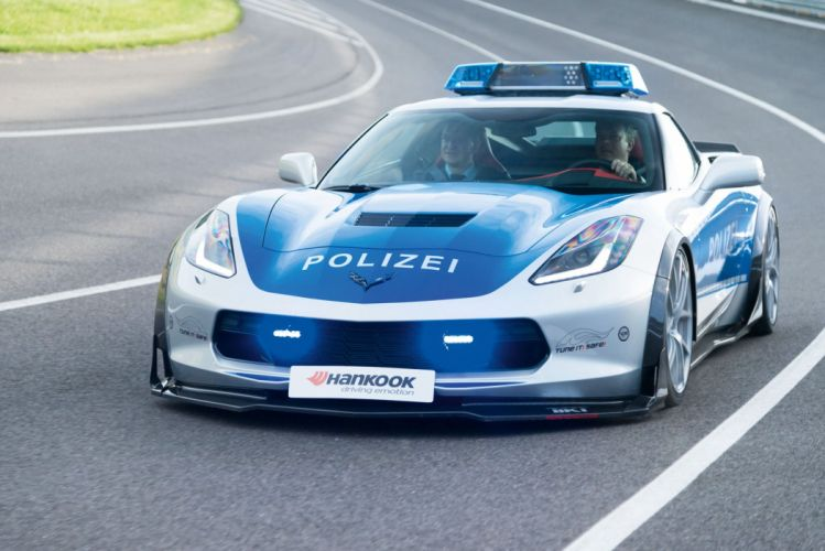 2015 Chevrolet Corvette Stingray Coupe Polizei Concept C-7 muscle police emergency supercar wallpaper
