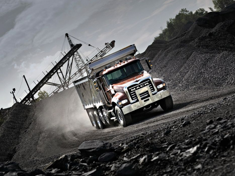 2002 Mack Granite 6x4 Dump Truck semi tractor construction dumptruck wallpaper