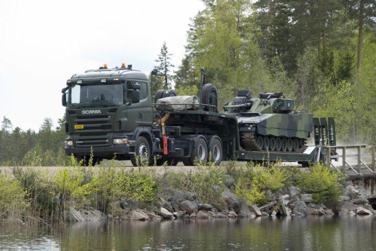 2007 Scania R500 6x4 H-Z military semi tractor tank wallpaper