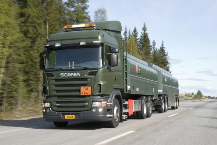 2007 Scania R500 6x2 Highline H-Z military semi tractor wallpaper