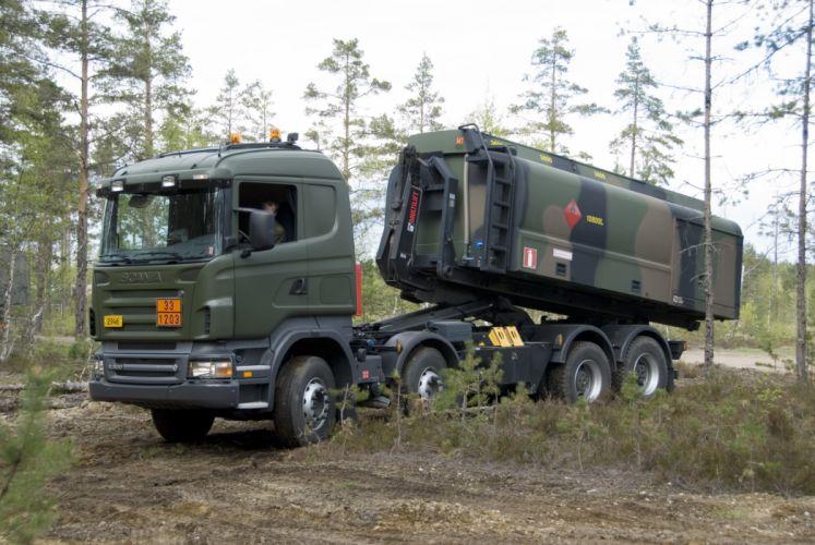 2007 Scania R500 8x4 H-Z military semi tractor wallpaper