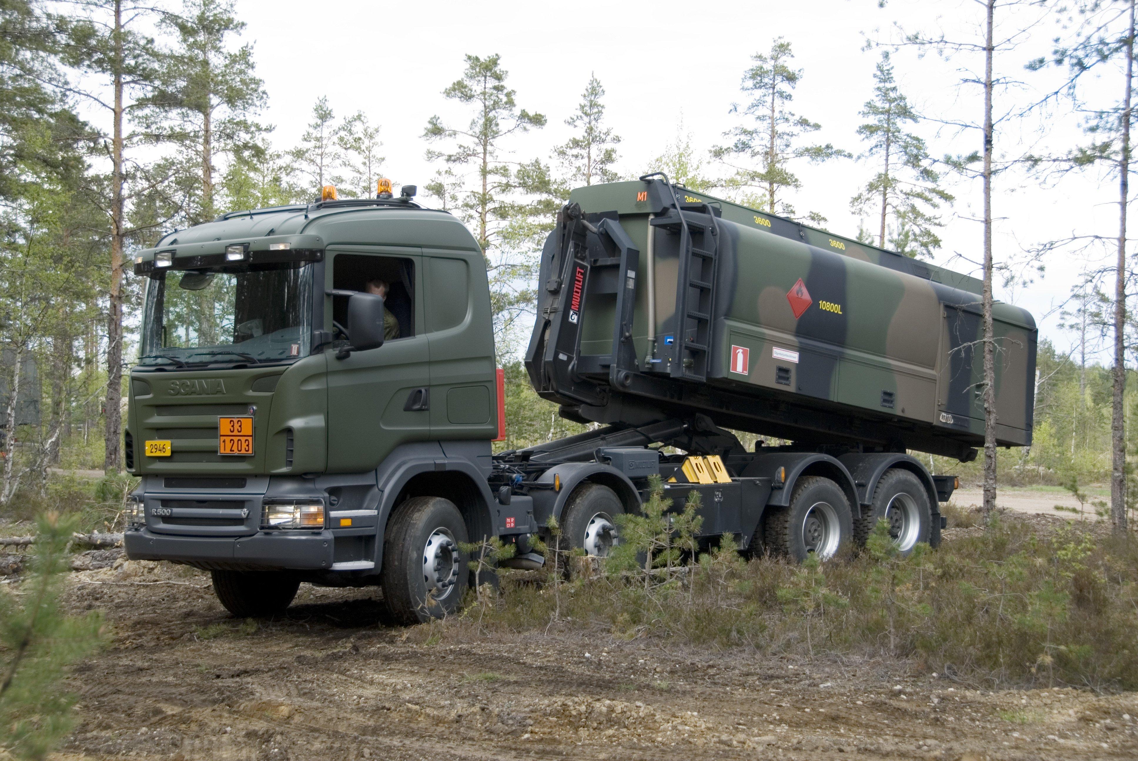 2017 Trucks >> 2007 Scania R500 8x4 H-Z military semi tractor wallpaper | 3872x2592 | 845394 | WallpaperUP