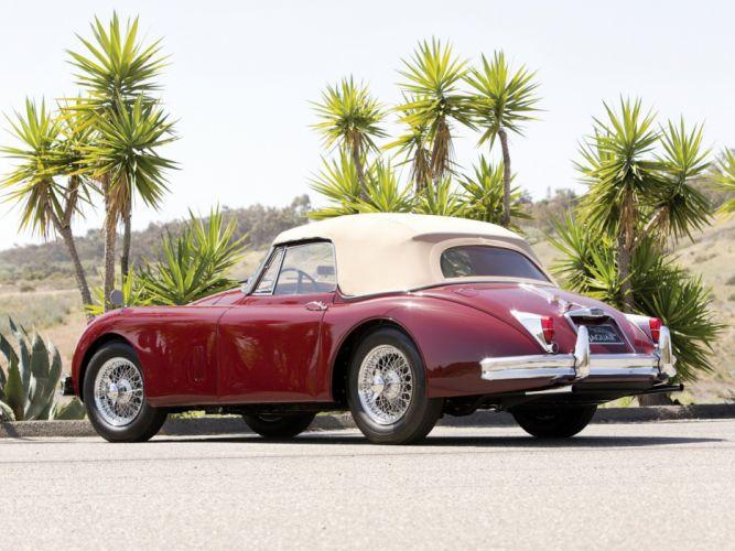 1958-61 Jaguar XK150 Drophead Coupe supercar retro wallpaper