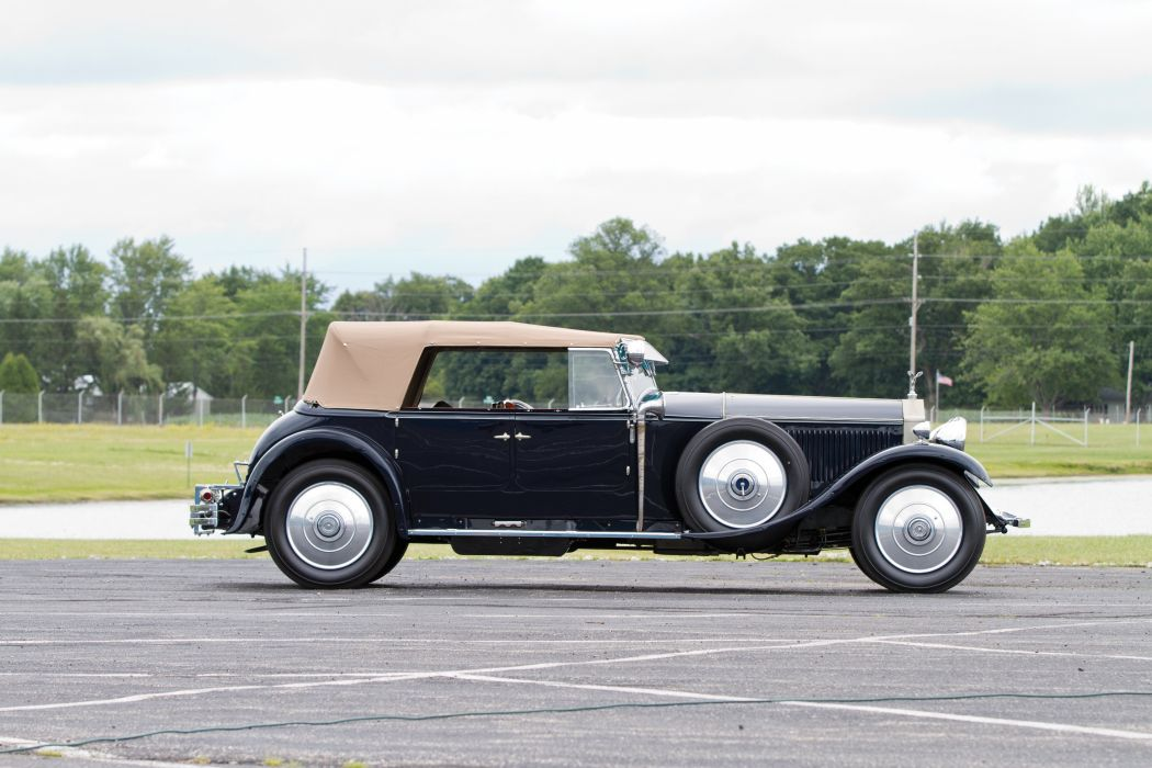 1929 Rolls Royce Phantom II Torpedo Tourer Barker vintage retro luxury wallpaper